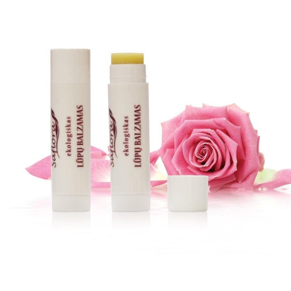 Natūralus lūpų balzamas rožių kvapo   kanoshop.lt