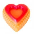 Greipfrutas - rankų darbo muilas širdelė 90 g