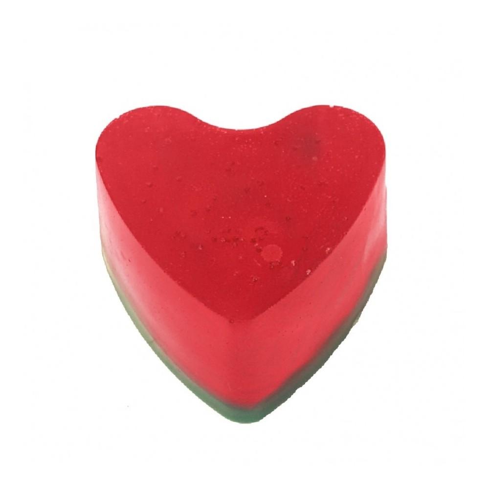 Rankų darbo muilas širdelė Arbūzas 60 g   kanoshop.lt