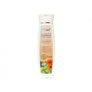 Natūralus šampūnas purumas ir apimtis 5 žolelių ekstraktų pagrindu 200 ml |kanoshop.lt