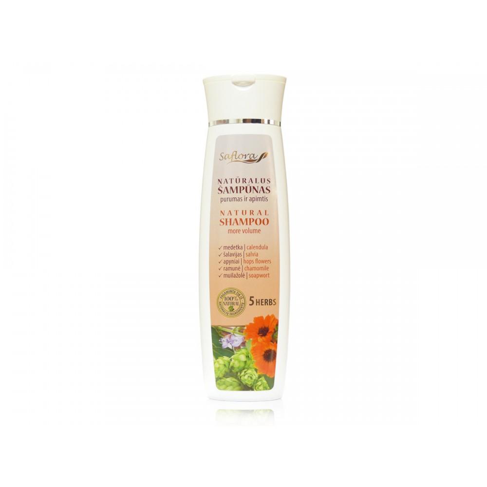 Natūralus šampūnas purumas ir apimtis 5 žolelių ekstraktų pagrindu 200 ml  kanoshop.lt