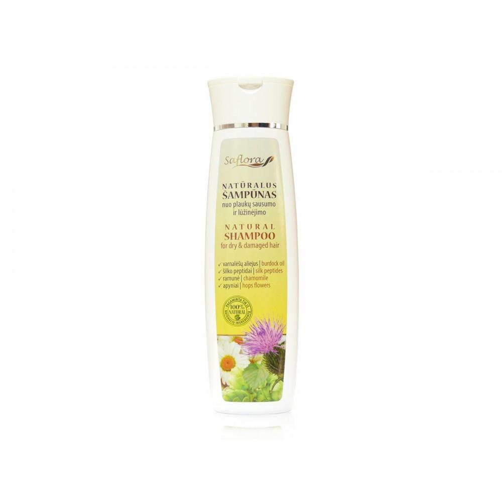 Natūralus šampūnas sausiems ir pažeistiems plaukams su varnalėšų aliejumi 200 ml  kanoshop.lt